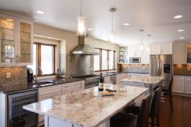 Two Kitchen Islands Fabulous 2 Islands Kitchen Traditional With White Countertops