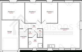 plan de maison de plain pied avec 3 chambres plan de maison plain pied 3 chambres avec garage yourbest