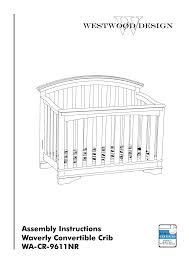 Convertible Crib Instructions by Westwood Crib Instructions Baby Crib Design Inspiration