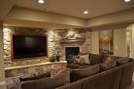 Tv Room Decor Ideas Decorations Breathaking Finished Basement Ideas With Cream
