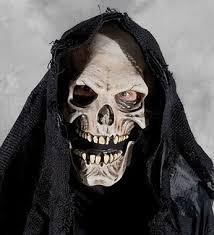 grim reaper costume burlap hooded skull grim reaper w moving costume