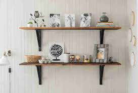 Build Wall Shelves Without Brackets by 10 Easy Shelves You Can Install In 30 Minutes Easy Wood Shelf