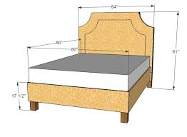 Full Size Bed Frame Plans Full Size Bed Frame Measurements Genwitch