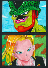 android 18 and cell cell versus android 18 by acid flo on deviantart