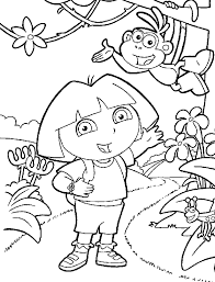 coloring pages for girls dora and boots cartoon coloring pages