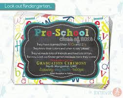 kindergarten graduation invitations designs classic kindergarten graduation invitation ideas with idea
