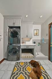 rustic dog kennels laundry room traditional with kids utility room