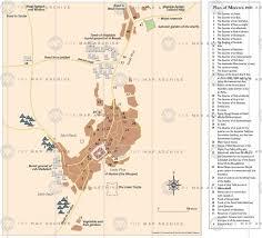Mecca On Map Plan Of Mecca C 1900