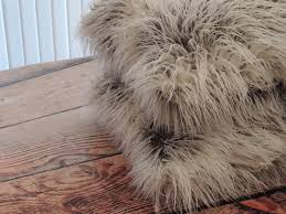 Faux Fur Throw Pillow Dino Salvani Salvani Inc Chicago Il