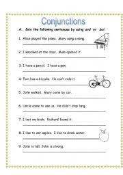 english worksheets conjunctions worksheets page 57