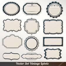 vector frame labels set ornamental vintage decoration stock