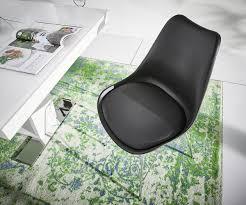 Esszimmerstuhl Im Cocktailsessel Design Esszimmerstuhl Madoka Schwarz Beine Verchromt Möbel Stühle