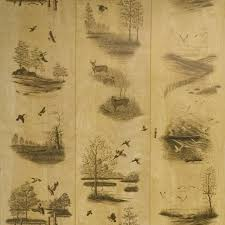 paneling rustic wildlife panels deer and duck interior wall