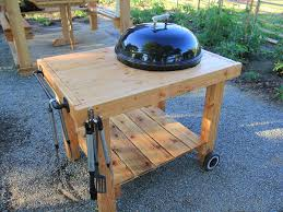 how to build a weber grill table diy weber grill cart bbq station