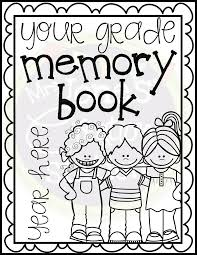 end of year memory book editable memory books kindergarten