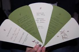 wedding ceremony fan programs 2000 dollar budget wedding diy how to make a fan wedding