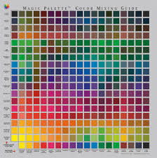 the color wheel company personal magic palette color mixing guide