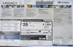 subaru window decals 2012 monroney window stickers subaru outback legacy impreza
