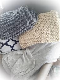 knit home decor chunky knit 50x60 vegan acrylic blanket super soft throw chunky