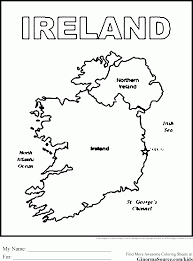 irelands flag to print and color bagpiper scotland coloring pages