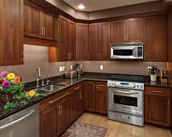 shaker cherry cabinets kitchen design photos