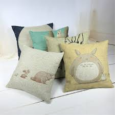 zimoli hand paint cartoon totoro cushion cover home decor sofa