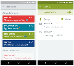 android reminders hello from clue clue custom reminders now available for android
