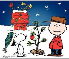 snoopy tree and snoopy decorate the tree in a brown christmas