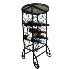 wine rack black metal lattice wine rack south shore vietti wine