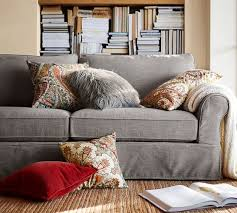 Pottery Barn Furniture Showroom Pb Comfort Roll Arm Slipcovered Sofa Collection Pottery Barn