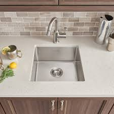 pekoe 17x17 stainless steel kitchen sink american standard