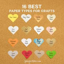 Paper Crafts - 16 best paper types for amazing crafts maker