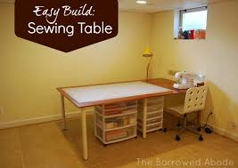 Diy Sewing Desk Cheap Easy Build A Large Or Tiny Sewing Crafting Table