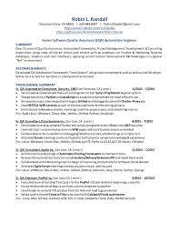 Qa Automation Engineer Resume Myresume 08
