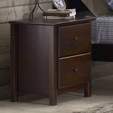 Nightstand With Shelf 2 Drawer Nightstand With Shelf Wayfair