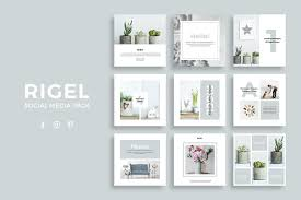 rigel social media pack instagram templates creative market