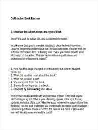 how to write an outline for research paper 34 outline examples in word book review sample outline