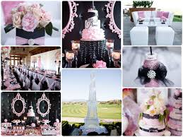 Eiffel Tower Decoration Ideas Pink And Black Combo Florals Pinterest Eiffel Tower Cake And