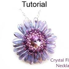 beading flower necklace images Beading tutorial pattern flower pendant necklace circular peyote