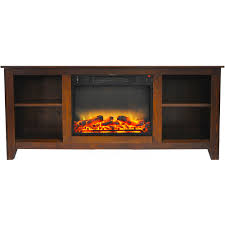 fireplace display santa monica 63 in electric fireplace u0026 entertainment stand in