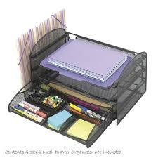 safco onyx mesh desk organizer safco onyx mesh desk organizer 3 sliding horizontal 1 upright black
