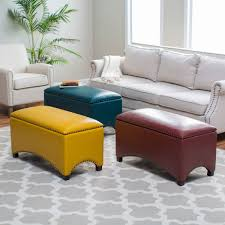 White Leather Storage Ottoman Small Upholstered Bench White Leather Storage Bench Small Tufted