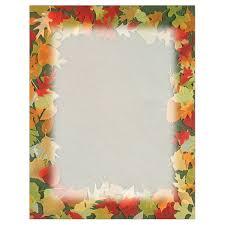 thanksgiving letter borders translucent fall leaves