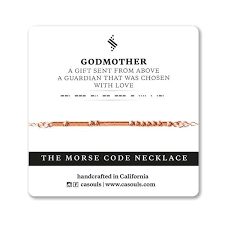 godmother necklace godmother morse code necklace unique baby shower s gift ca souls