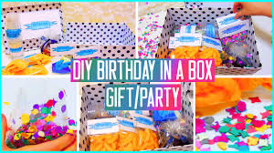 birthday gifts for in diy birthday in a box throw a mini party for your friend gift idea