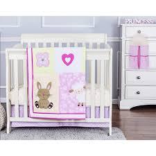 Mini Portable Crib Bedding Sets On Me Naptime Friends 4 Reversible Portable Crib