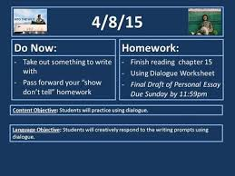 3 3 15 do now take out your into the wild books homework read