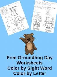 free groundhog coloring pagesf worksheets kindergarten free