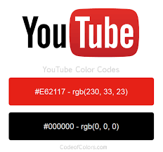 Youtube Color Code | colors used in the youtube logo and website social media site