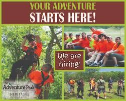 adventure park jobs the adventure park at heritage